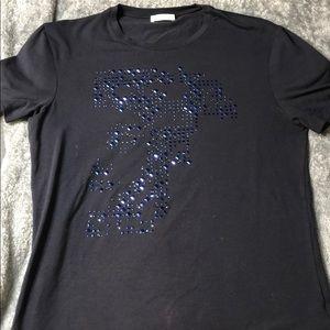 Large Men's Versace Blue T Shirt